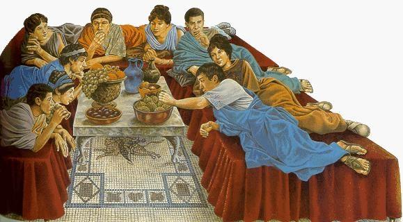 Antichi romani a tavola