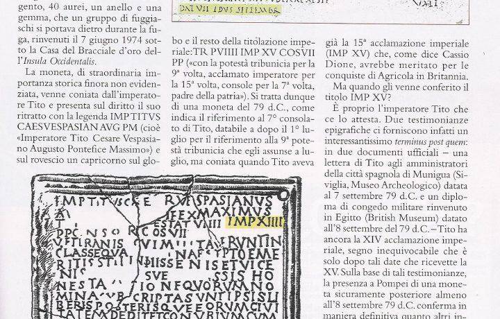 Archeo Datazione Eruzione del Vesuvio del 79 d.C.