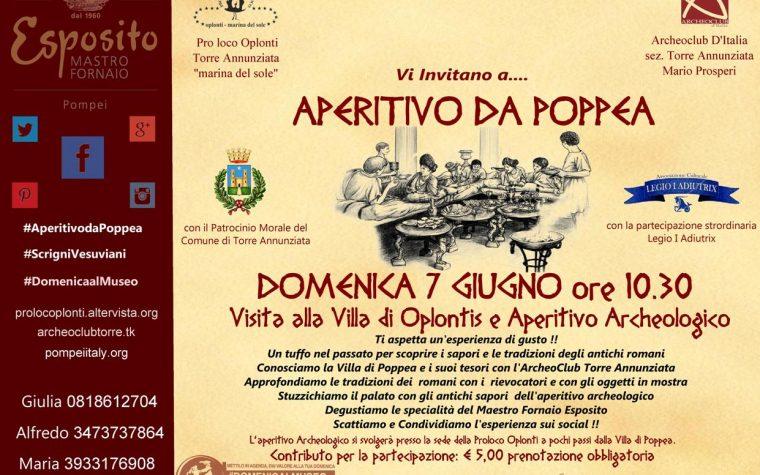 Aperitivo da Poppea ad Oplontis domenica 7 giugno ore 10.30