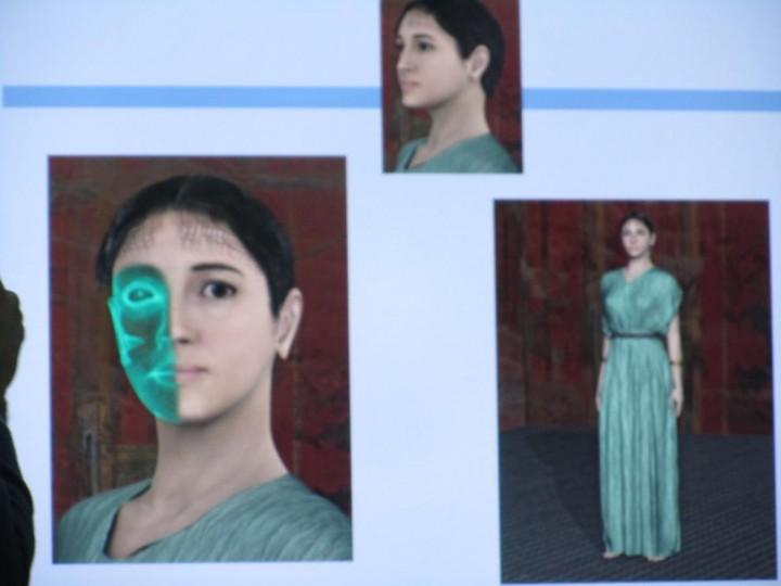 Attraverso la computerizzazione grafica possiamo ricostruire il volto della giovane donna:
