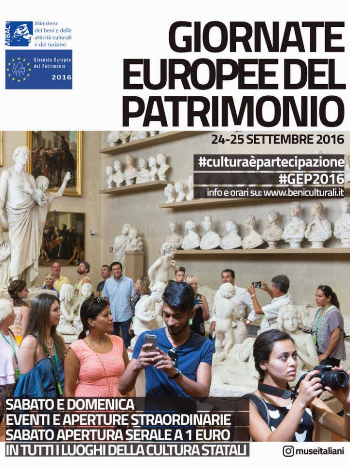 locandina giornata europea del patrimonio